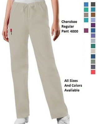 97fa8d437bb Cherokee Scurbs WorkWear Regular Drawstring Cargo Pants 4000 Choose  Color/Size