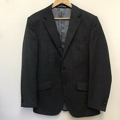 Marks & Spencer Collection Mens Luxury Grey Wool  Blazer Jacket Size 40 Long