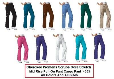 Cherokee Womens Scrubs Core Stretch 4005P Petite Pants All Colors And Sizes NWT