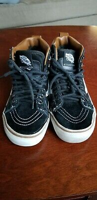 Vans SK8 HI Black White Canvas Lace Up High Top Skateboard Shoes Youth Size  3.5 2f3b64cbc