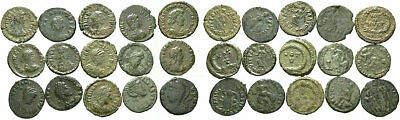 FORVM Bulk Lot of 15 Very Nice Late Roman AE4s VF with Nice Green Patinas