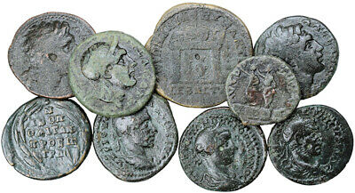 FORVM Lot of 9 Nice Ancient Roman Provincial Bronze Coins