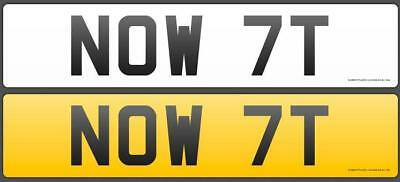 NOW 7T (NOWT, a true Yorkshire plate!) - Held on retention