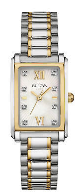 Bulova 98P144 Women's Diamond Mother of Pearl Dial Two-Tone Watch Missing Links