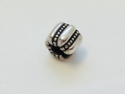 Authentic PANDORA Sterling Silver 925 Openwork S Barrel Spacer Charm Retired