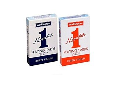 Brand New Decks of Waddingtons No.1 Classic Playing Cards Red & Blue Poker Game