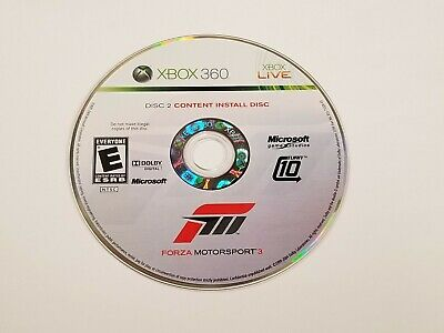 Forza Motorsport 3 Content Install Disc ONLY!! (DISC 2) for Microsoft XBOX 360