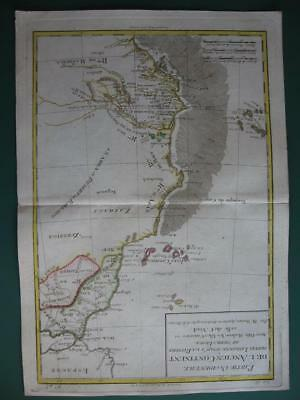 1780 - BONNE - Map NORTH WESTERN AFRICA  MOROCCO CANARY MADEIRA & CAPE VERDE Is.