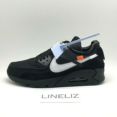 THE TEN' OFF White x Nike Air Max 90 Black UK 9 EUR