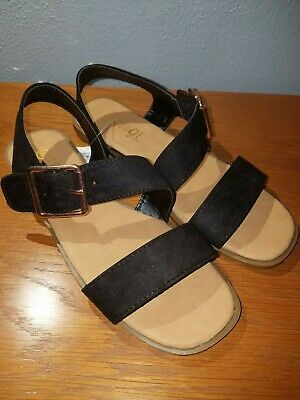 c80290431f79 Rouge Helium Women s Sandals Summer Shoes Size 7 1 2 Nwt Black Suede Gold  Buckle