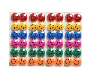 Brand new Colorful Smiley Face Fridge Magnets Magnet Notice Board Home essential