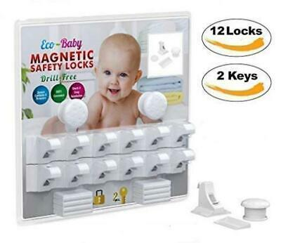 Eco-Baby Child Safety Magnetic Cabinet and Drawer Locks for Proofing Kitchen...
