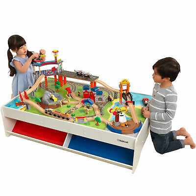 79-PIECE RAILWAY EXPRESS Train Set & Table with Built in