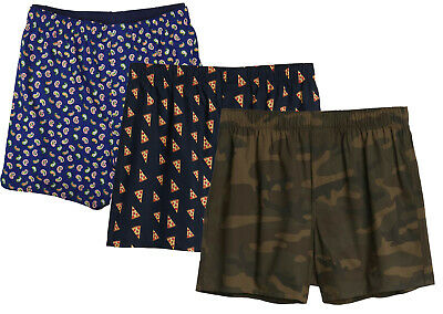 "Gap Mens Blue Green Navy Allover Print 4"" Boxers 3 Pc Set Sz Large L 8468-3"