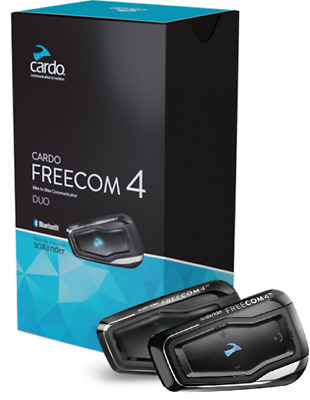 Cardo Scala Rider Freecom 4 Duo Audio Motorcycle Bluetooth Intercom Headset