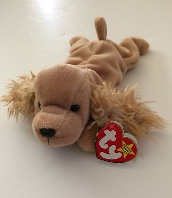 a066be0f835 TY SPUNKY BEANIE Baby Cocker Spaniel Dog MWMT 1997 Rare Retired ...