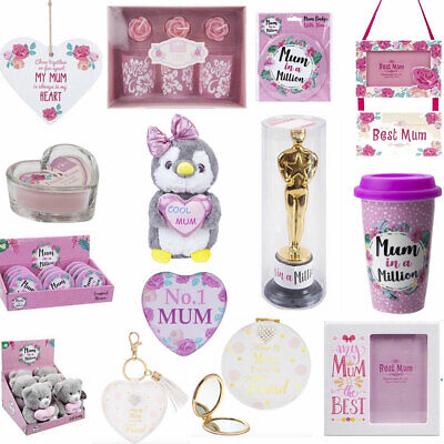 Mothers Day Gift Love Mum Badge Teddy Cup candle Mirror Trophy Keyring Frame