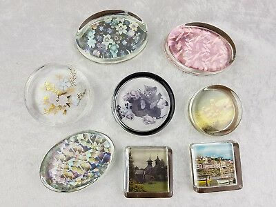 Collection of 8 Art Glass Paperweights Paper Weight Many designs job lot