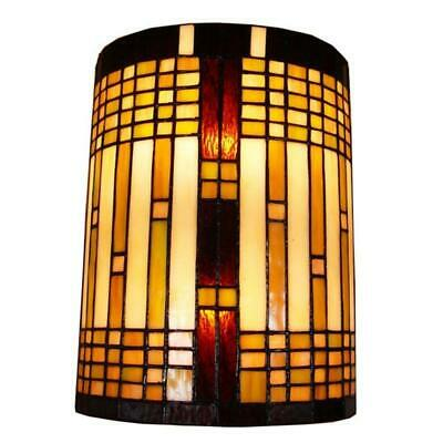 Amora Lighting 2-Light Tiffany Style Geometric Wall Sconce AM1077WL10