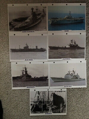 Photo's;Ships Queen Elizabeth & 14 Others with Bios.