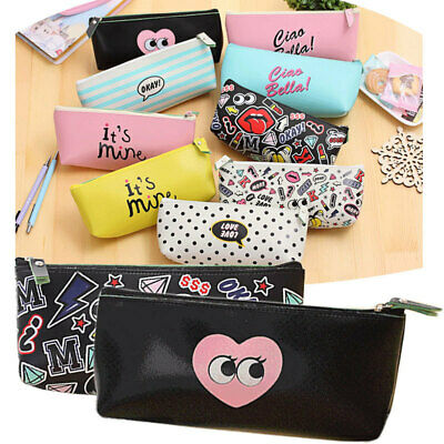Pencil Pen Case Bag Cosmetic Makeup Storage Bag Purse Kids School Stationary