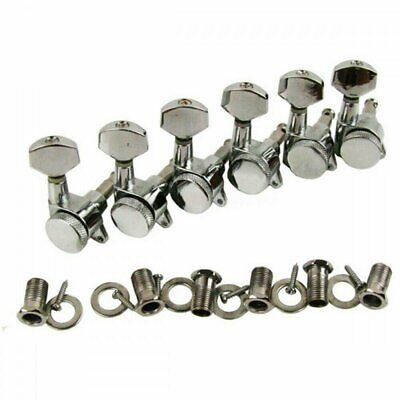 Guitar Locking Tuners Tuning Pegs 6 in line (right) Chrome for Strat style