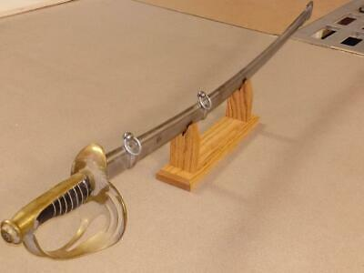 Sword Display Stand Marine Cavalry Military Katana Universal Solid Oak USA MADE!