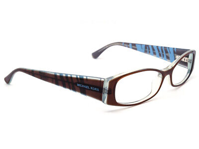 9402968a2d Michael Kors Eyeglasses MK612 235 Brown Clear Blue Zebra Oval Frame 53  15  135