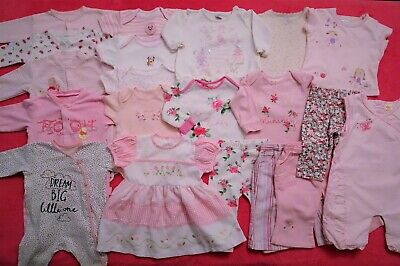 ❤️ LOVELY baby girl's clothes bundle, 20 items, pink, 3-6 m, VGC girl girls ❤️