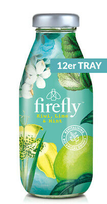 firefly natural drinks - green: Kiwi, Lime & Mint 0,33l Glas (12er Tray)