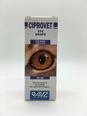 Ciprovet Eye drops for cats/dogs pet bactericidal and anti-inflammatory effect