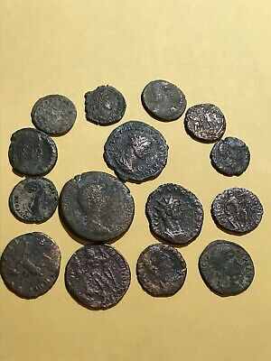 Group Lot of 15 Authentic Ancient ROMAN Coins Collection 200-400 AD .99 Start