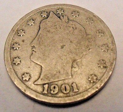 "1901 P Liberty Head ""v"" Nickel   Sds   **free Shipping**"