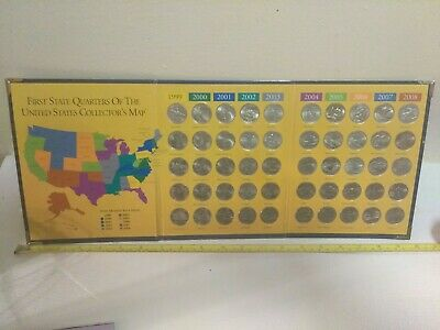 First State Quarters Of The United States Collectors Map 1999-2008 full