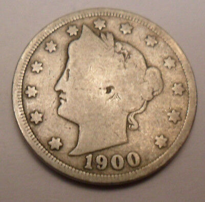 """1900 P Liberty Head """"v"""" Nickel   *ag Or Better*   **free Shipping**"""