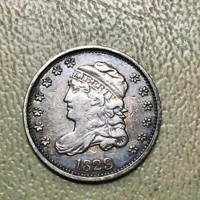 1829  Capped Bust Half Dime   Vf    #8886