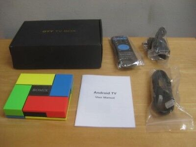 Bomix Smart Android Ott Tv Box Tested With Box Cords & Remote