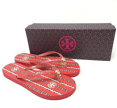 4474f5174ab0c8 TORY BURCH FLIP flops size 7 in purple and red -  25.00