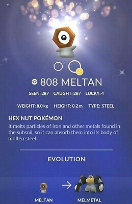 SHINY Meltan Mystery Box SALE - Pokemon Go Incense Lure - Up to 300 Meltan candy