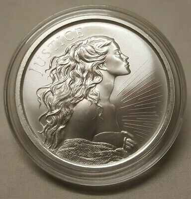 2018 Silver Shield 1oz Lady Justice .999 Fine Silver Round Coin in CAPSULE