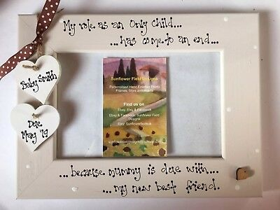 Baby Scan Photo Picture Frame 6x4 5x7 8x6 10x8 Personalised Any Wording