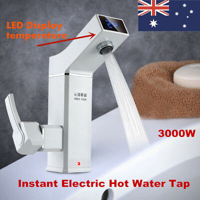 Bathroom Kitchen Faucet Instant Hot Water Tap 3000W  Electric Water New AU