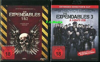 Blu Ray - The Expendables 1-3 Trilogie(y) / Stallone, Statham, - FSK 18 UNCUT