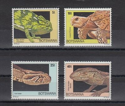 Timbre Stamp  4 Bostwana  Y&t#395-98 Serpent Tortue Neuf **/mnh-Mint 1979 ~C07