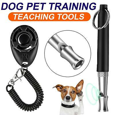 Dog Clicker Pet Training Clicker Trainer Teaching Tool For Dogs Puppy Uk