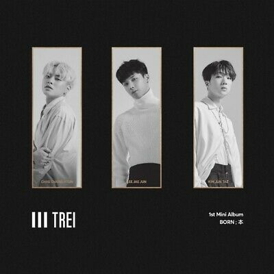 TREI [BORN;本] 1st Mini Album CD+POSTER+P.Book+Calendar+Tag+Sticker+P.Card SEALED