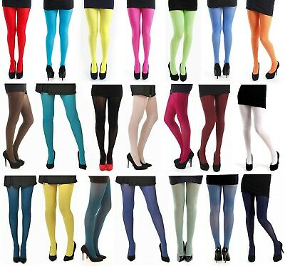 50 Denier Opaque Tights Size 8-24 S/M L/XL XXL Pamela Mann Coloured Legwear