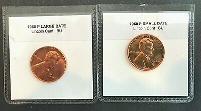 1960 LARGE DATE + 1960  Small Date CHOICE UNC  + 1960 PROOF LINCOLNS   (3 COINS)