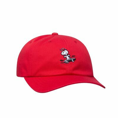 b3fdf8bd7cf NEW HUF Peanuts Snoopy Skate 6-Panel Red Curved Visor Hat - with Strapback