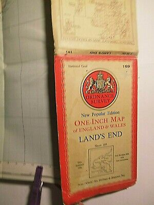 "Land's End, Scilly Isles &  West Cornwall: War Decade 1"" Ordnance Map 1931-1946"
